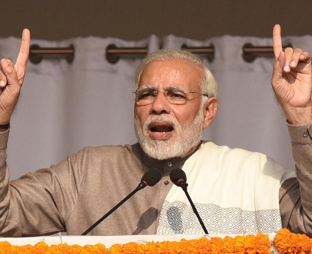 Primo ministro indiano Narendra Modi: sterco di mucca